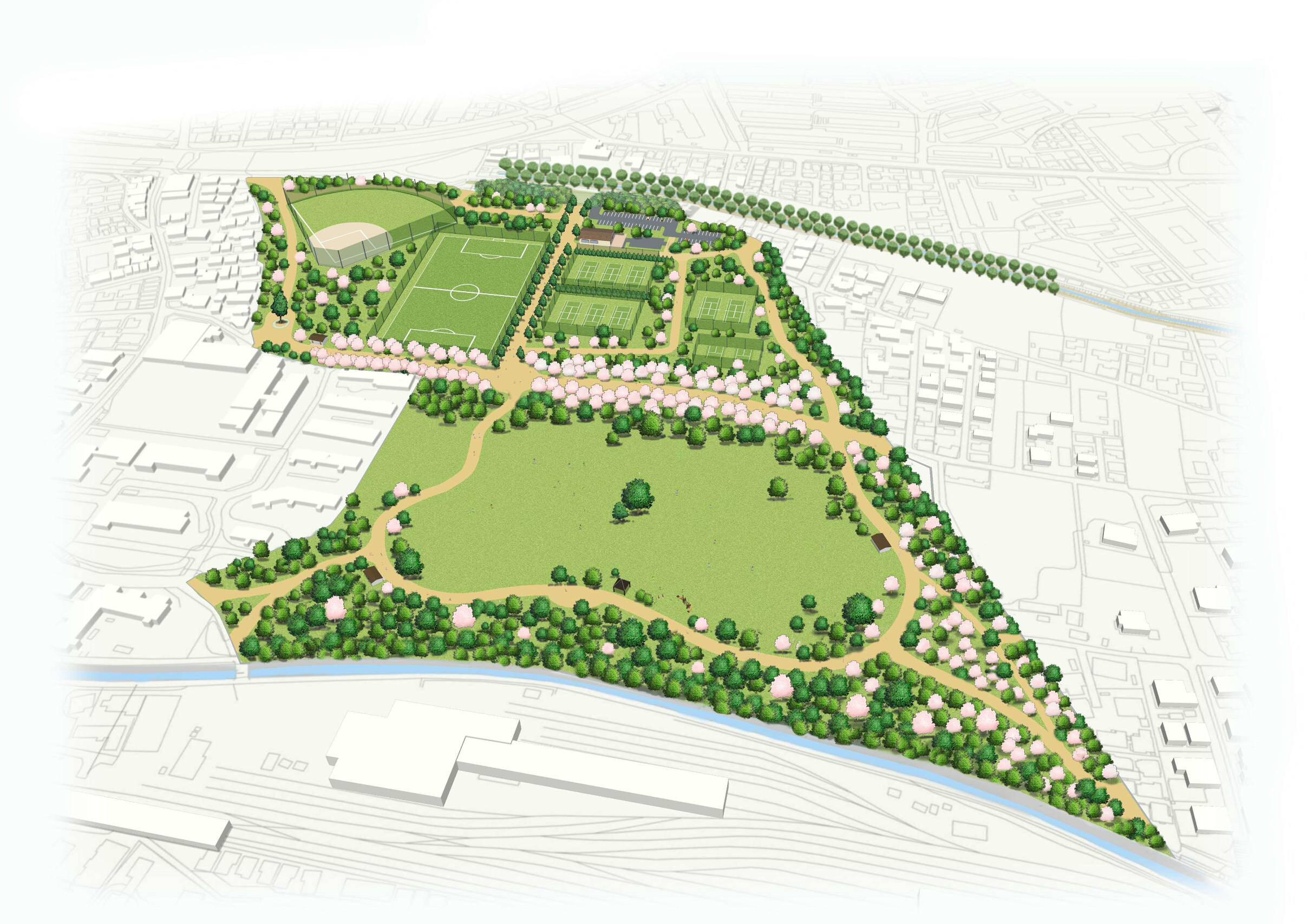 都立高井戸公園整備計画(東京都建設局HPより)