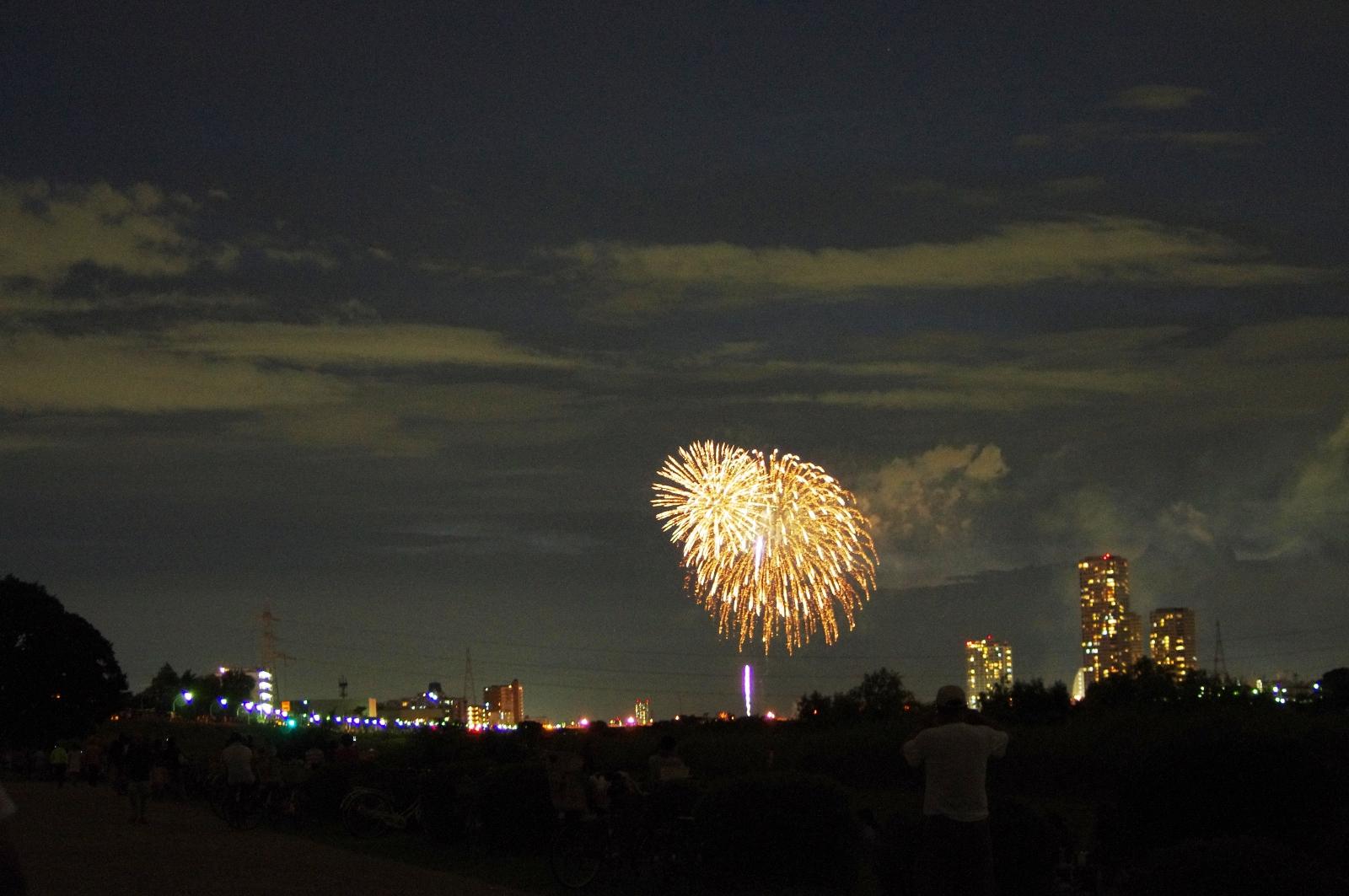 参考画像 多摩川花火大会