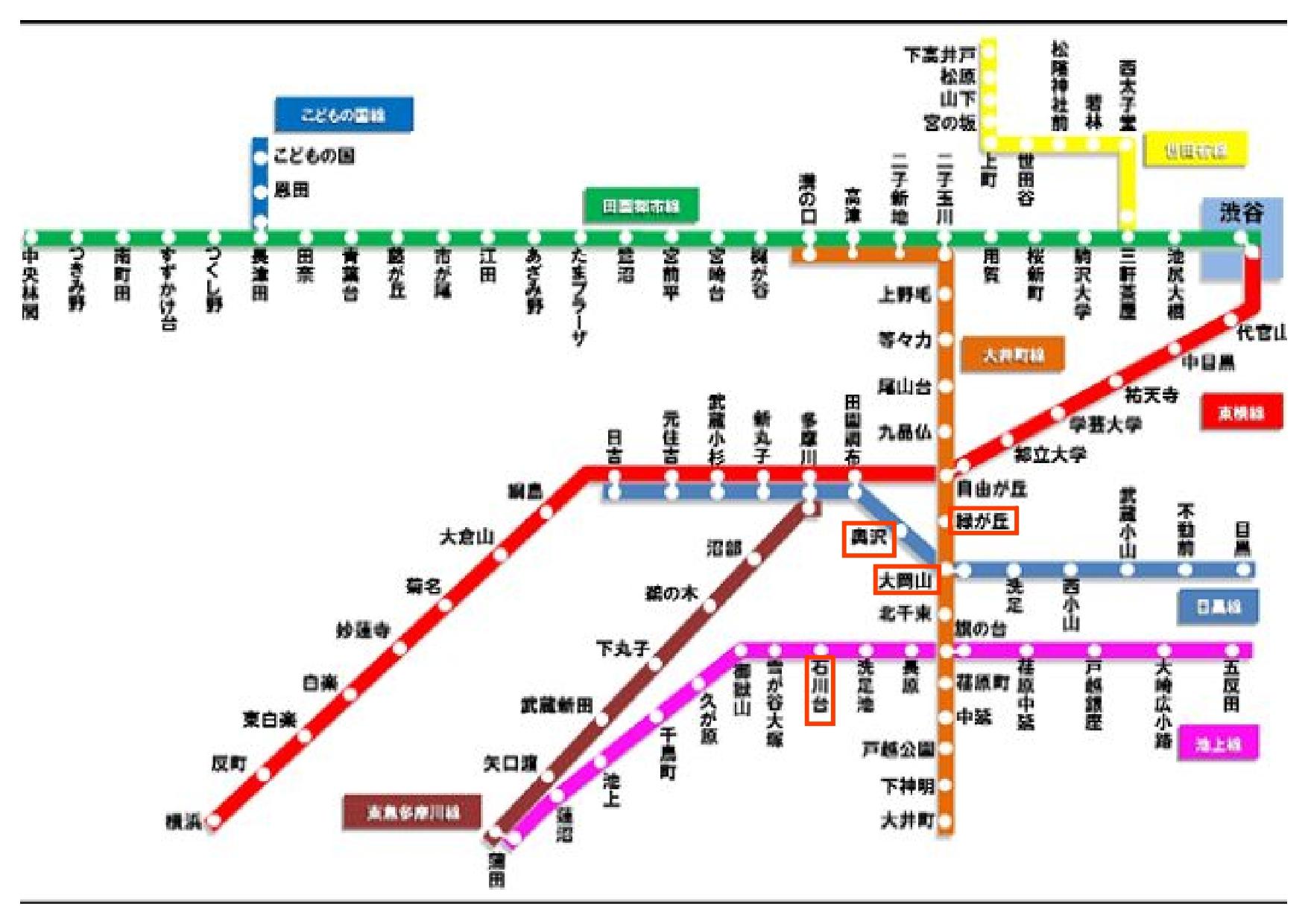 東急線 路線図